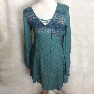 Hollister teal and blue Mini dress Size S